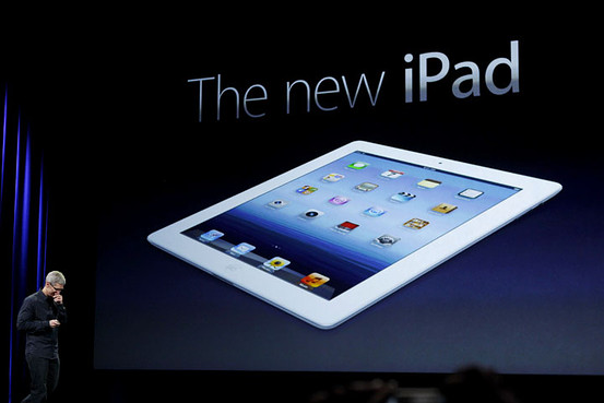 Tim Cook presents the new iPad